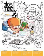 En couverture, dessin original de Tom, de la série des P'tits diables, à colorier.