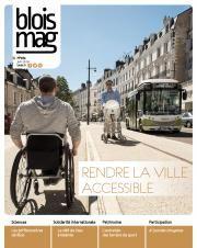 Encouverture, une personne en fauteuil roulant, un personne avec une poussette et la navette électrique illustrent le dossier Accessibilité.