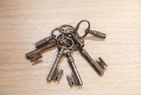 Trousseau de vieilles clés.