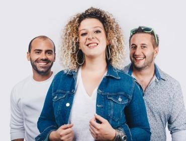 Portrait de Mylène Madrias, Sébastien Gourseyrol et Jérémy Pauly, les trois membres du groupe.