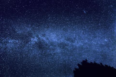 La Voie lactée et la galaxie d'Andromède