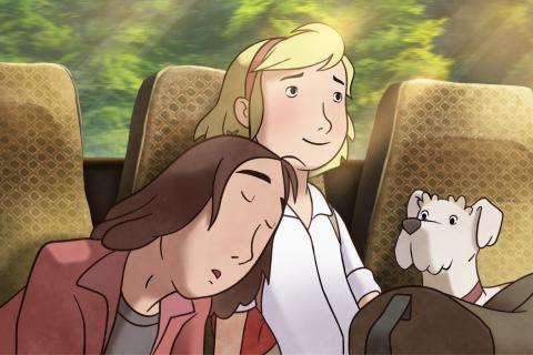 Extrait du film: les personnages s'assoupissent dans le train.