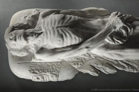 Effigie funéraire de Catherine de Médicis, photographiée depuis le dessus.