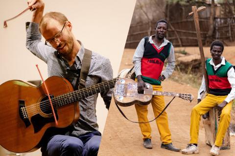 Montage de portrait de So-lo-lo et Madalisto Band.