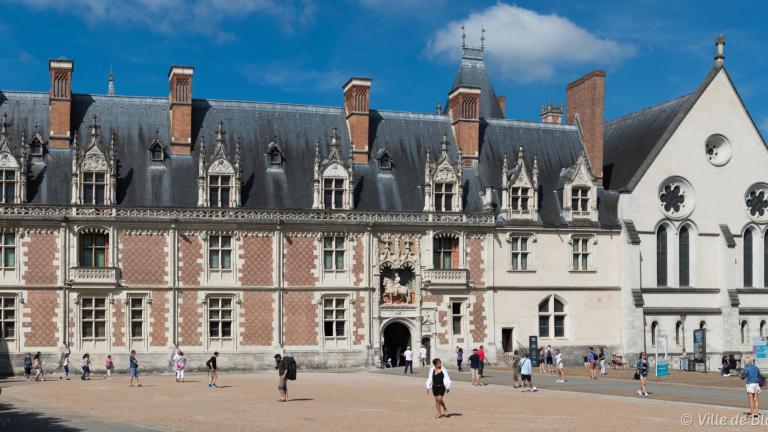 Façade gothique du Château royal (aile Louis-XII).