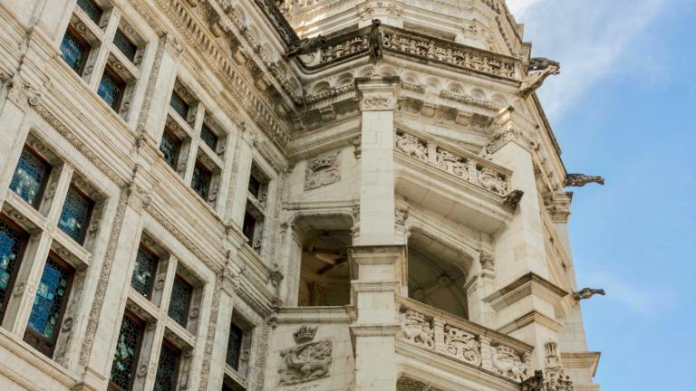 Escalier François-Ier de l'aile Renaissance du Château royal.