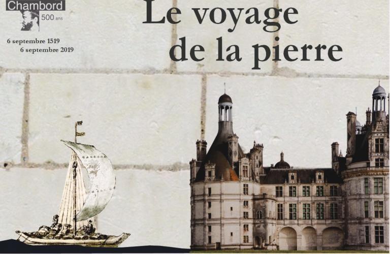 Affiche présentant un fûtreau s'avançant vers le Château de Chambord.