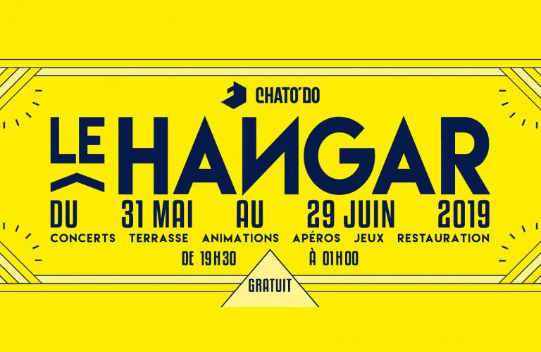 Le Hangar, du 31 mai au 29 juin : concerts, terrasse, animations, apéros, jeux et restauration, de 19 h 30 à 1 h, gratuit.