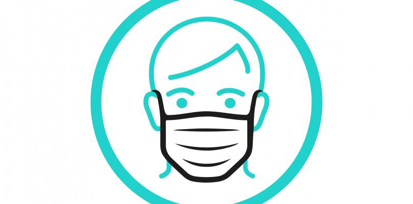 pictogramme d'une personne portant un masque