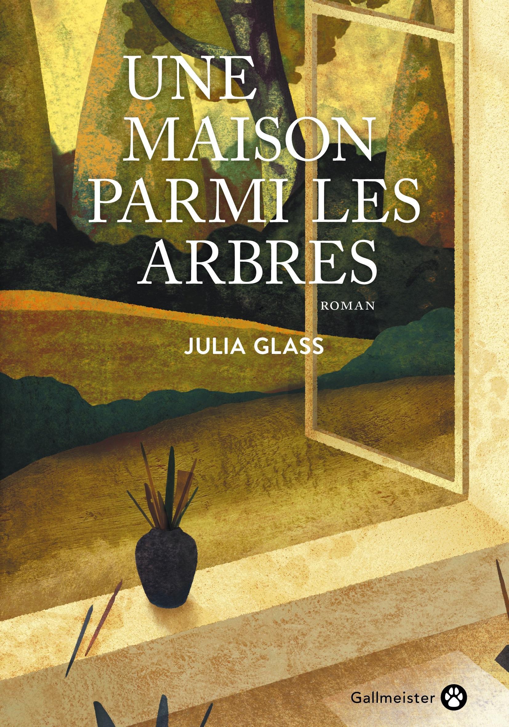 Couverture du livre : dessin d'une fenêtre ouverte sur la forêt, avec un vase sur le rebord.