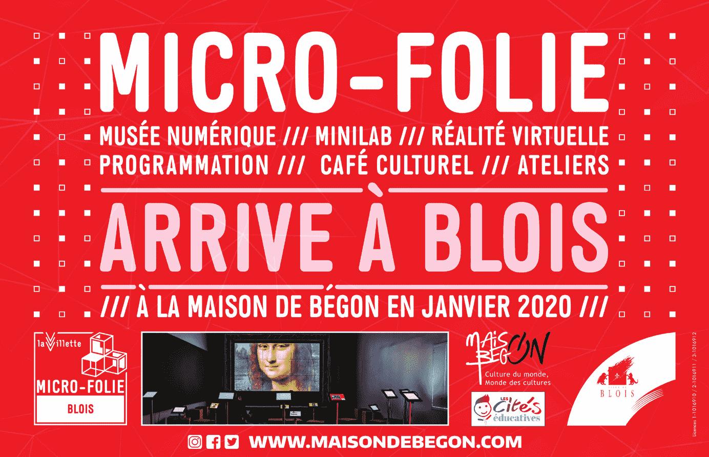 Micro-Folie arrive à Blois : musée numérique, minilab, réalité virtuelle, programmation, café culturel, ateliers. Rendez-vous à la Maison de Bégon en janvier 2020