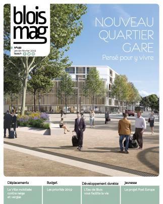 En couverture, une image de synthèse du futur parvis de la gare, désormais piéton et plus végétales.