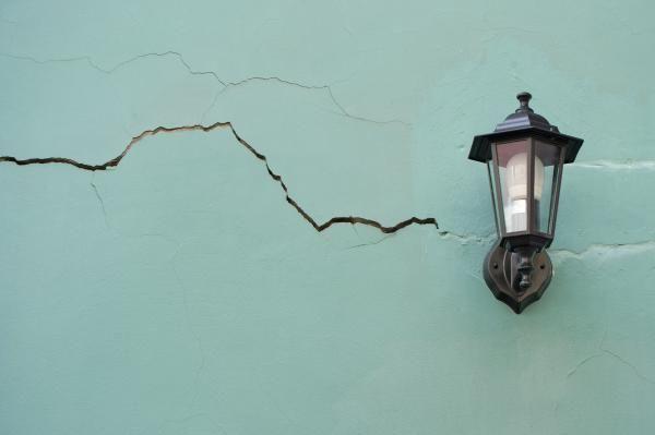 Fissure dans un mur.