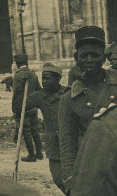 Photo de tirailleurs africains.